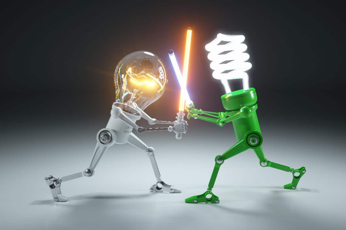 lightbulbs fighting