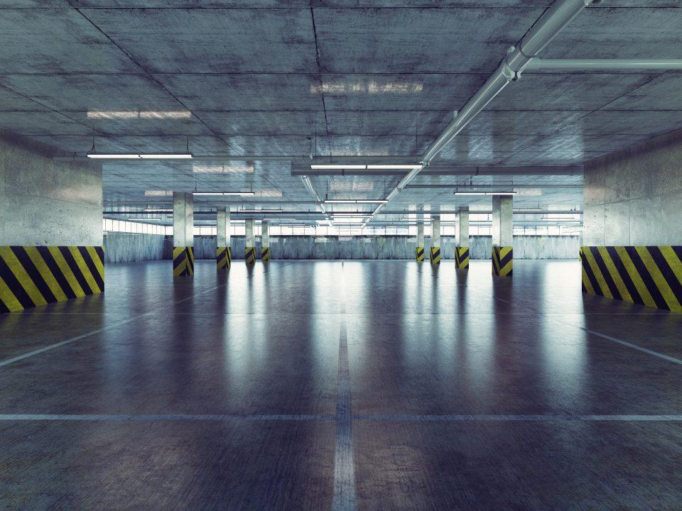 parking deck. 3d concept